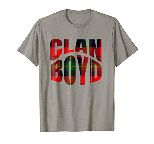 Boyd Clan Kilt Tartan T-Shirt Namesake Scotland gift Tee