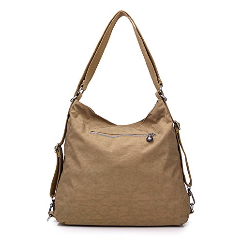 Women Handbag Nylon Satchel Bag Bag Bag Shoulder Travel Cross Beige for Casual Girls Crossbody Sport Side Messenger Backpack Outreo Body qStI1p