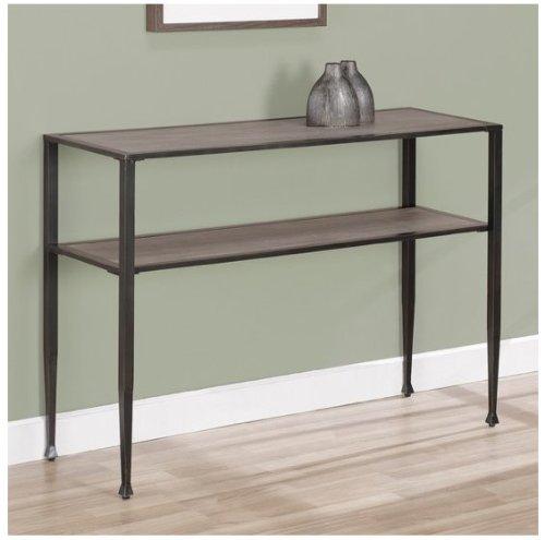 Rustic Sofa Table ,Modern,shuffle,transitional ,Metal and Wood Material with Oak (Modern Oak Sofa)