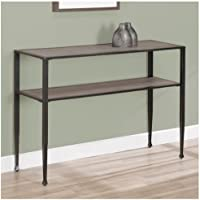 Rustic Sofa Table ,Modern,shuffle,transitional ,Metal and Wood Material with Oak Finish