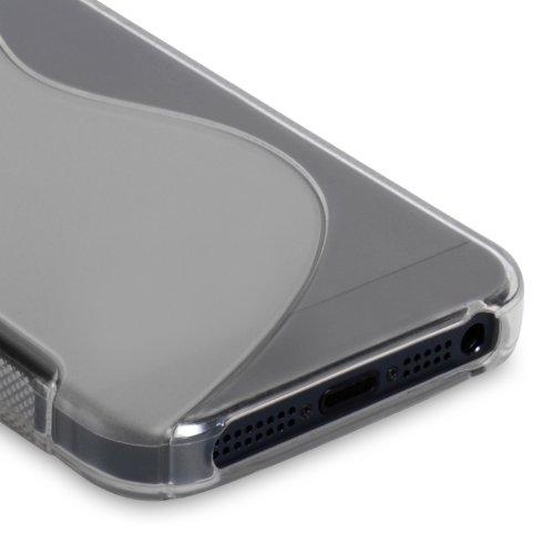 Caseflex Schutzhülle iPhone 5S Hülle Klare Silikon Gel S-Linie Case