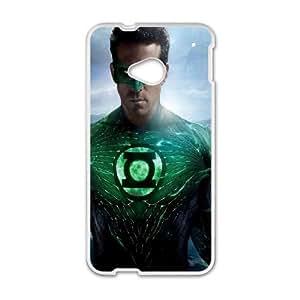 (OPJZ) Green Lantern HTC One M7 Cell Phone Case White