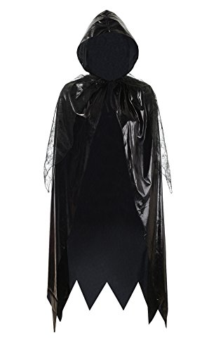 Victorian Witch (Adult Halloween Christmas Cosplay Costume Vampire Witch Victorian Cape Ball Dovetail Cloak (Black))