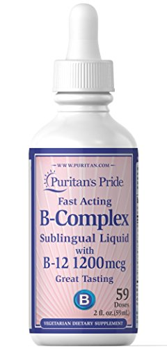 Puritan's Pride Vitamin B-Complex Sublingual Liquid with Vitamin B-12-2 fl oz Liquid