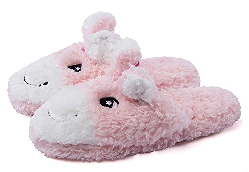 Winter Fuzzy Pink Slip Animal Slippers Indoor Foam With Womens Cute MaaMgic Ladies Memory On Slippers Bedroom O5nxFwRZEq