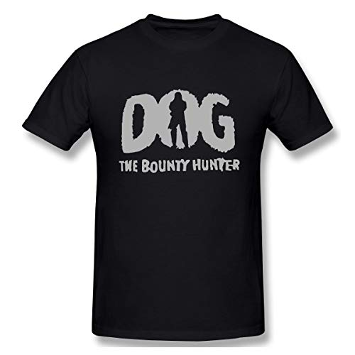 BrocadeCarp Dog Bounty Hunter Beth Chapman Mens Funny Tees Women Loose Short-Sleeved T-Shirt L Black]()