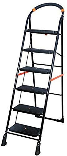 Truphe Anti Skid Foldable Ladder 6 Step Ladder for Home Use Foldable Home Ladder 6 Step Ladder for Office Folding Ladder 6 Step Ladders