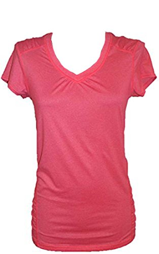 Kirkland Signature Women's Semi-Fitted V-Neck T-Shirt (Size L, Color Coral Pink)