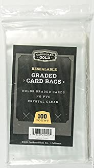 (1pk of 100) Cardboard Gold CBG GRADED Card Pro Sleeves Next Generation Archival Protection PRO Sleeves KEEPS