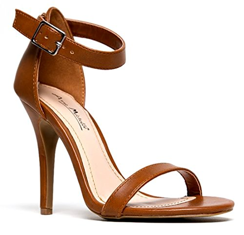 Anne Michelle Enzo Women Open Toe Synthetic Sandals Chestnut La2jquug2