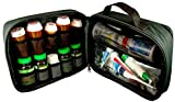 StarPlus2 Large Padded Pill Bottle Organizer, Case, Carrier for Medications, Vitamins, and Medical Supplies - for Home Storage and Travel - Black