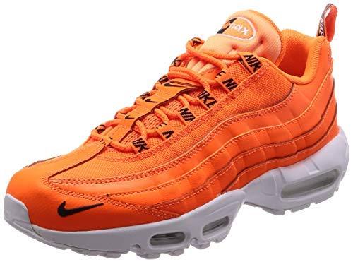 Nike Air Max 95 PRM Mens Running Trainers 538416 Sneakers Shoes (UK 10.5 US 11.5 EU 45.5, Total Orange Black White 801)