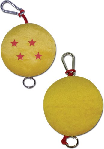 4' Plush Bear Keychain - Dragon Ball Z: Four Star ball Plush Keychain ~ The Badge of Courage