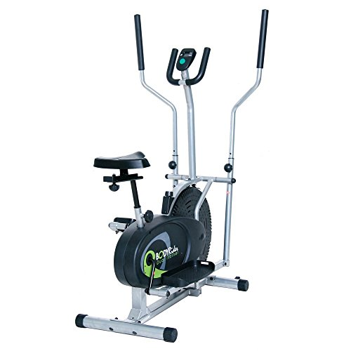 Affordable Total Body Workout Dual Elliptical Exercise Trainer Bike System- Excellent Craftsmanship Portable Versatile Lightweight- Steel Frame Electronic Monitoring System