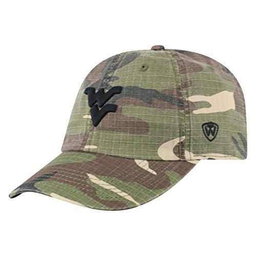 (Top of the World NCAA West Virginia Mountaineers Men's American Hero's Adjustable Icon Hat, Camo)