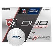 Wilson Duo Soft NFL Golf Balls 12-Ball Pack Seattle Seahawks