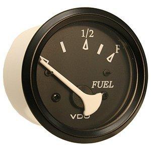 VDO Allentare Fuel Level Gauge - Use w/Marine 240-33 Ohm Fuel Senders - 12V (Black-Black Bezel)