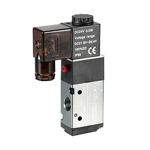 3V210-08 Pneumatic air Control Without Solenoid Valve DC 24V 3 Way 2 Positions 1//4 inch PT Single Internal Pilot Actuation Type