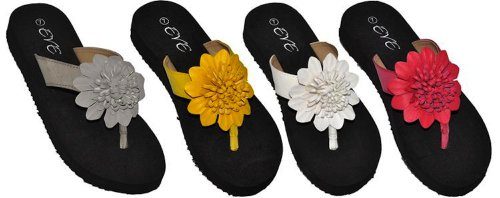 Women's Ladies' Flower Comfort Thong Sandals by Eve