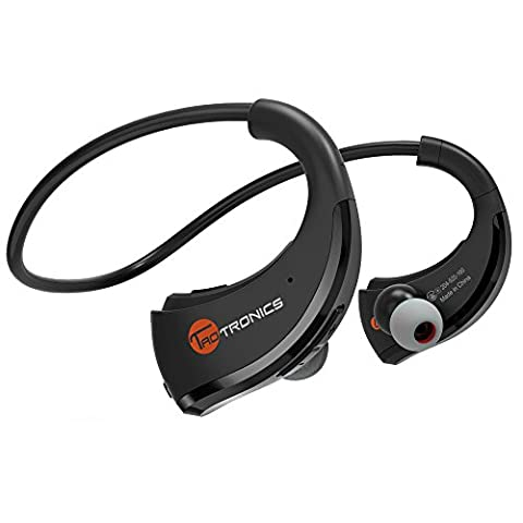 Bluetooth Headphones, TaoTronics Wireless In-Ear Earbuds with Microphone, Nano Coating Waterproof Sports Earphones for Running and Exercise (aptX Stereo,8 Hours Play Time,CVC 6.0 Noise Cancelling (Taotronics Bluetooth Headphones)
