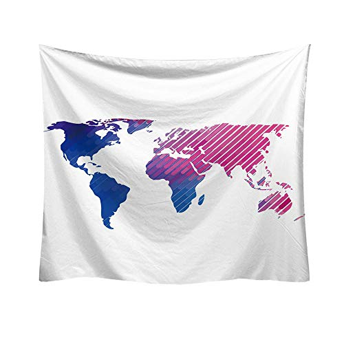 Tapestry World Map Tapestry Wall Hanging Tapestry for Bedroom Living Room Colorful Cloth Wall Towel Beach Towel Beach Sheet Decorative Towel Wall Hanging 95x73cm