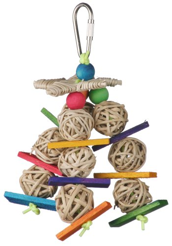 Image of Super Bird Creations 5-1/2 by 2-1/2-Inch Mini Starburst Bird Toy, Small
