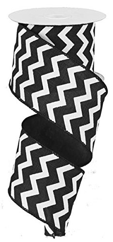Chevron Wired Edge Ribbon (2.5