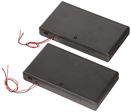 Net_Cafe Plastic Battery Case Holder 8 x AA 12V Battery Case Box Wired ON/OFF Switch Set of 2pcs