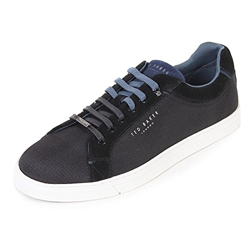 Ted Lace Up Sneakers (Ted Baker Men's Klemes Textile Lace up Casual Trainer Black-Black-11)