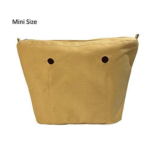 Giallo vostra impermeabile Mini piccola Accessori solidi Sunonip rivestimento tasca in Donne borsa di la dimensione Inserimenti per inserto o 4UxFzq