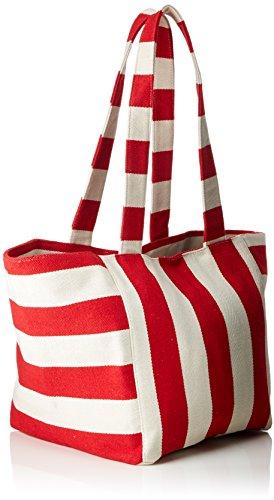 Pcgillian Shopper Pieces Flame Shoulder Scarlet Multicolour Bag Canvas Scarlet Women's Flame gxCxq5PwnS