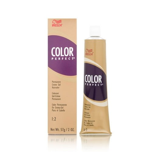 Wella Perfect Hair Color Permanent Creme Gel Tube, 4g Medium Golden Brown, 2 Ounce ()