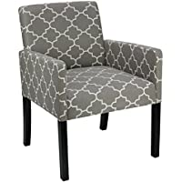 Cortesi Home Tegan Accent Chair, Grey Fabric
