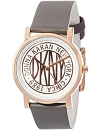 Women Soho Quartz Leather Gray with Rose Gold White Dial Watch NY2764 · DKNY