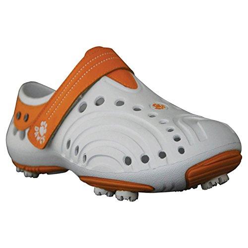 DAWGS Women's Golf Spirit Walking Shoe,White/Orange,6 M US