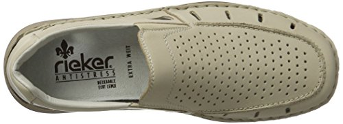 Rieker Mens Slipper Crema Extra Wide Beige