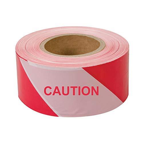 (Red-White Caution Tape Do Not Enter Barricade Tape 3 inch x 1300 feet Red-White Tape with Bold Red Font)