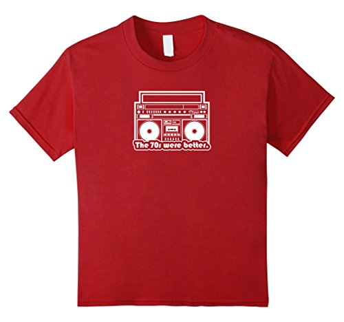 Kids The 70s were Better vintage music boombox tee shirt gift 4 (Ghetto Kids Halloween Costume)