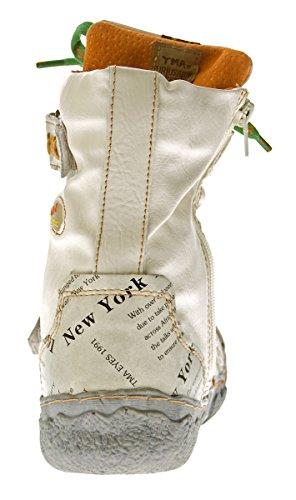 Stiefel viele Leder Damen Knöchel creme Winter Used N Schuhe TMA echt gefüttert 7087 Weiß Stiefeletten Farben Leder Look 75wqPnERx