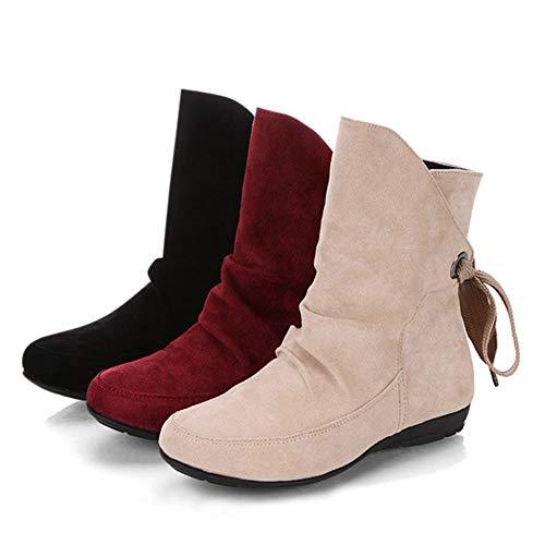 Mujer con Negro Planos Negro con Chica Botines Zapatos con Botines Botines e16602