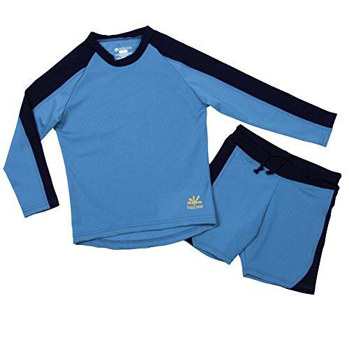 Nozone Laguna Sun Protective 2-Piece Boy's Swimsuit in Smurf/Navy, Size 12 -