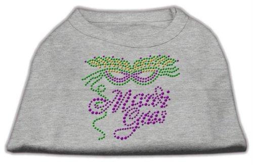 Mirage Pet Products Mardi Gras Rhinestud Shirt, Small, Grey