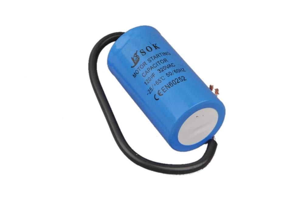 Kondensator Motorkondensator Anlaufkondensator 120 uF / 320V Mit Kabel BSD
