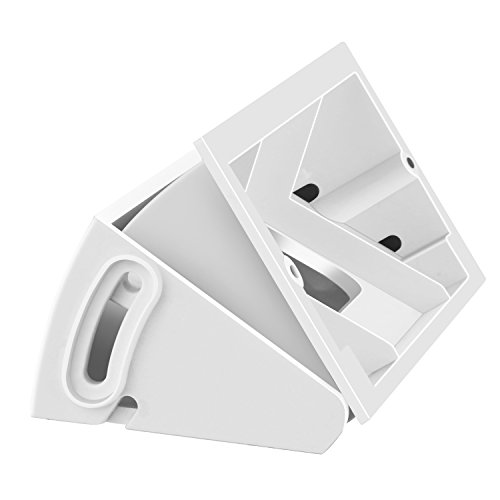 ADJUSTABLE (30 to 55 degree) Angle Mount for Ring Video Doorbell Pro (Released in 2016), Gooyo White Angle Adjustment Adapter/Mounting Plate/Bracket/Wedge Kit (Doorbell NOT included)-White