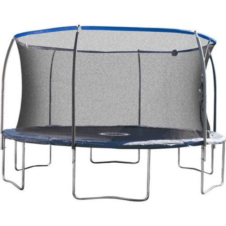BouncePro 14' Trampoline with Proflex Enclosure and Electron Shooter Game, Dark Blue by BouncePro