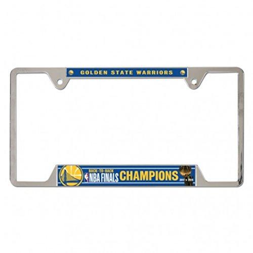 WinCraft Golden State Warriors 2018 NBA Finals Champions Metal License Plate ()
