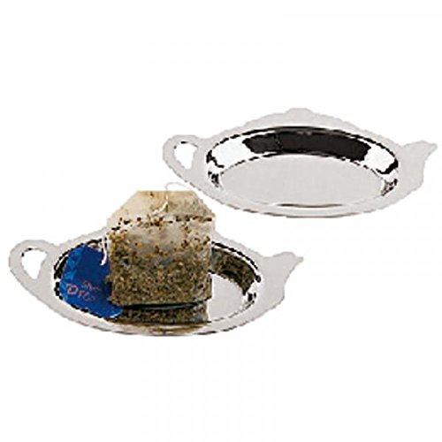 Tea Bag Rest, Stainless Steel, Set of 2 Paderno World Cuisine 42619-02