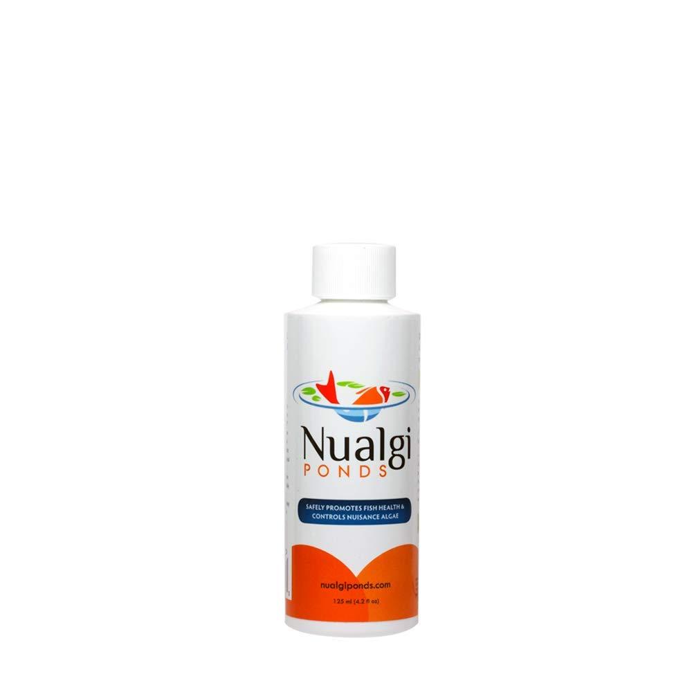 Nualgi Ponds - Natural Algae Control, Water Clarifier & Algaecide Alternate - 100% Safe for All Fish, Plants & Animals (1 x 125ml) by Nualgi Ponds