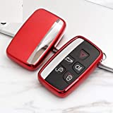 Eppar New Protective TPU Key Case for Land Rover Range Rover Sport 2012-2018 (Red)