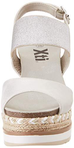 plata Mujer Plataforma Plata 49108 Plateado Para Xti Con Sandalias 1R0wnFqp